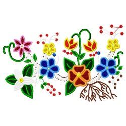 Ojibwa Floral embroidery design