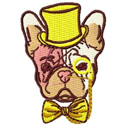 French Bulldog Head embroidery design
