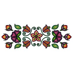 Ojibwa Floral embroidery design