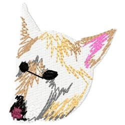 White Dog Head embroidery design