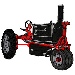 BBQ Tractor embroidery design