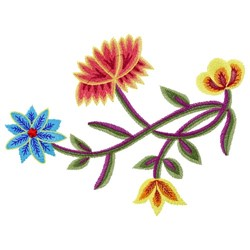 Nordland Flowers embroidery design