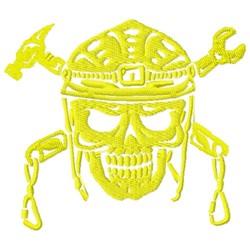 Skull & Tools embroidery design