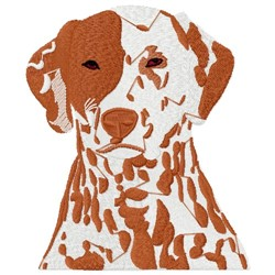 Spotted Dog Head embroidery design