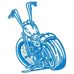 Bluework Motorcycle embroidery design