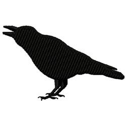 Raven Silhouette embroidery design
