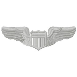 Wings Insignia embroidery design