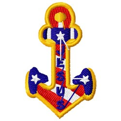 Patriotic Religious Anchor embroidery design