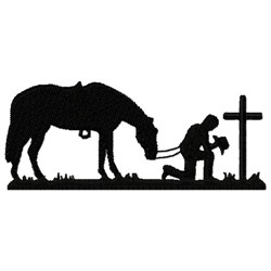 Praying Horse & Cowboy embroidery design
