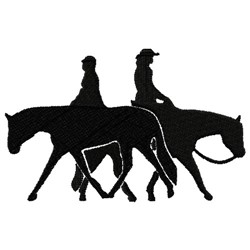 Horse & Rider Silhouette embroidery design