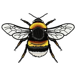 Realistic Bumblebee embroidery design
