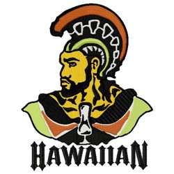 Hawaiian Trojan Mascot embroidery design