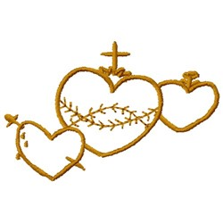 Religious Hearts embroidery design
