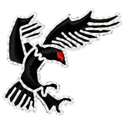 Flying Hawk embroidery design