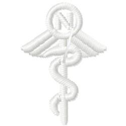 Nurse Caduceus embroidery design