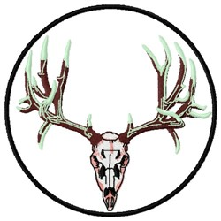 Deer Skull Patch embroidery design