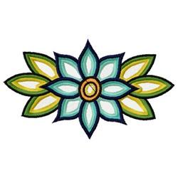 Lotus Flower Border embroidery design
