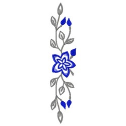 Vertical Floral Border embroidery design