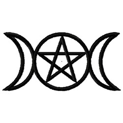 Triple Moon Pentacle embroidery design