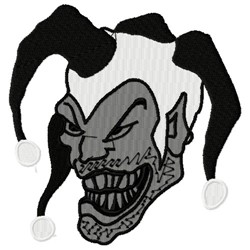 Joker embroidery design