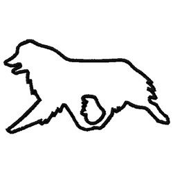 Australian Shepherd Outline embroidery design