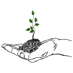 Sapling In Hand embroidery design