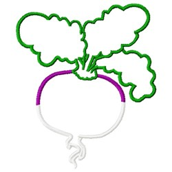 Turnip Outline embroidery design
