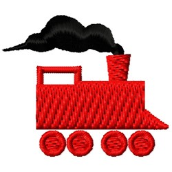 Train Engine Silhouette embroidery design