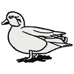 White Duck embroidery design