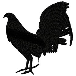 Rooster Silhouette embroidery design