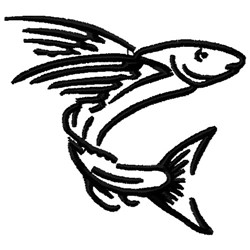Flying Fish embroidery design