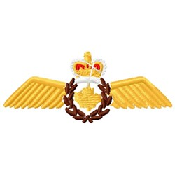 Canadian Pilot Wings embroidery design