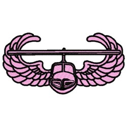 Airplane Wings Insignia embroidery design