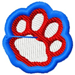 Paw Print Logo embroidery design