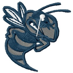 Hornet Mascot embroidery design