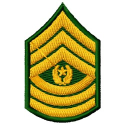 Command Sergeant Major embroidery design