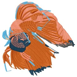Oriental Fantail embroidery design