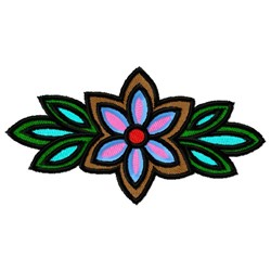 Decorative Flower embroidery design