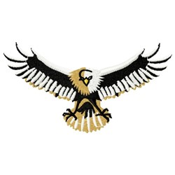 Flying Eagle Mascot embroidery design