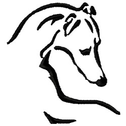 Whippet Logo embroidery design