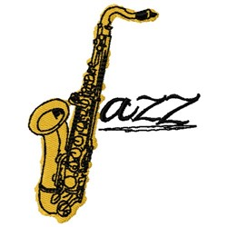 Jazz Saxophone embroidery design
