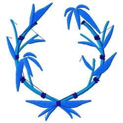 Bamboo Wreath embroidery design