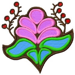 Decorative Asian Flowers embroidery design