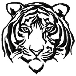 Tiger Mascot embroidery design