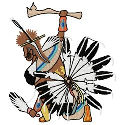 American Indian Dancer embroidery design