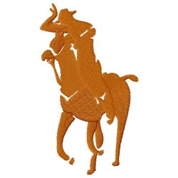 Cowboy Silhouette embroidery design