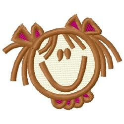 Girls Head embroidery design