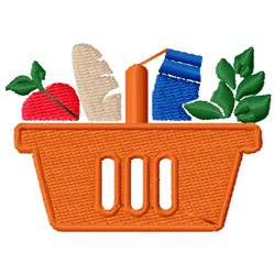 Grocery Basket embroidery design