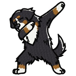 Bernese Mountain Dog embroidery design