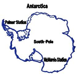 Antarctica embroidery design